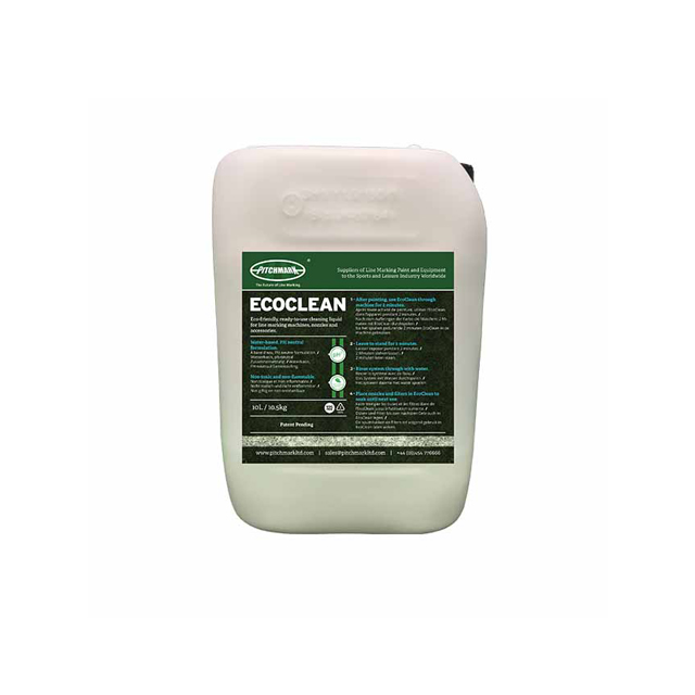 Image of a white plastic 10 litre drum with an EcoClean label on.