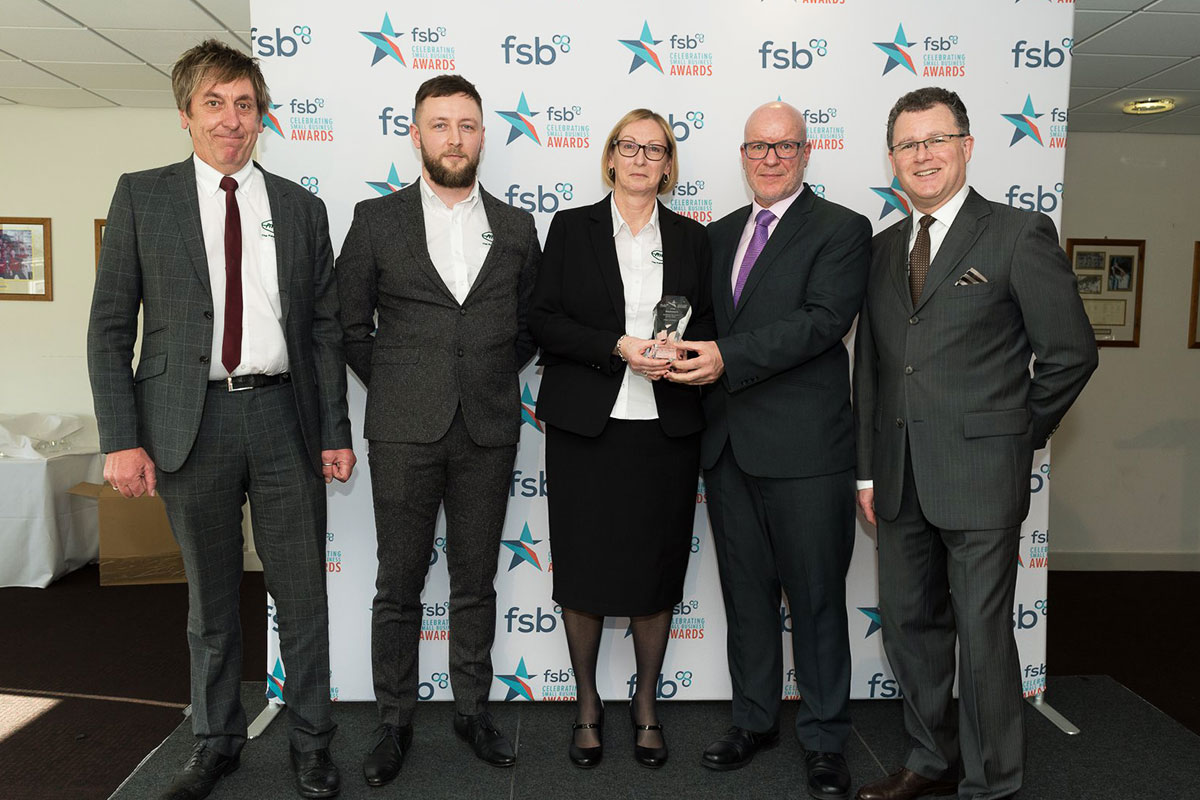 Pitchmark receiving their FSB award for Business Exporter of the Year.