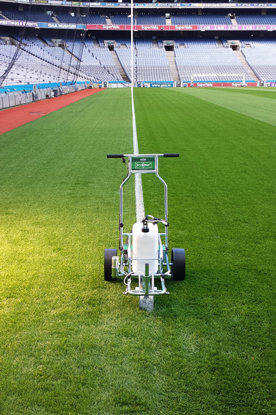 One of the new Hybrid markers on the pitch at Croke Park.