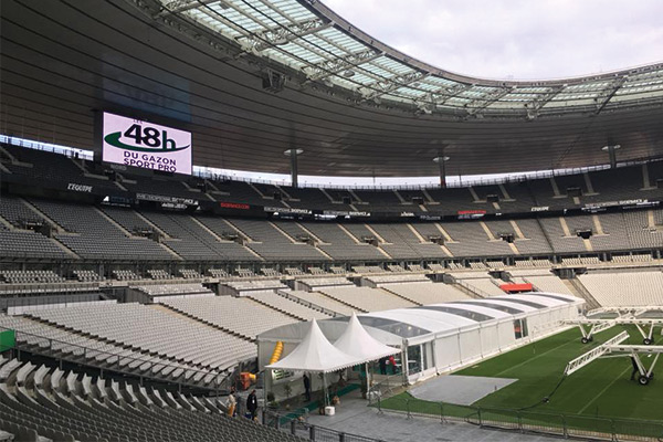 Pitchmark attend Les 48h du Gazon Sport Pro at the Stade de France.