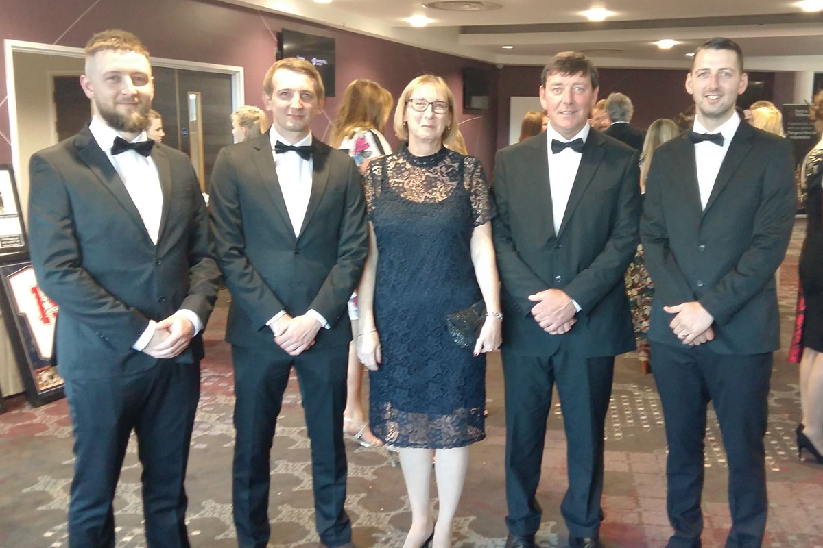 Pitchmark's directors attend the 2018 Bristol Post Business Awards