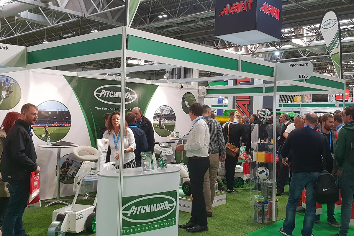 Pitchmark's busy stand at SALTEX 2018.