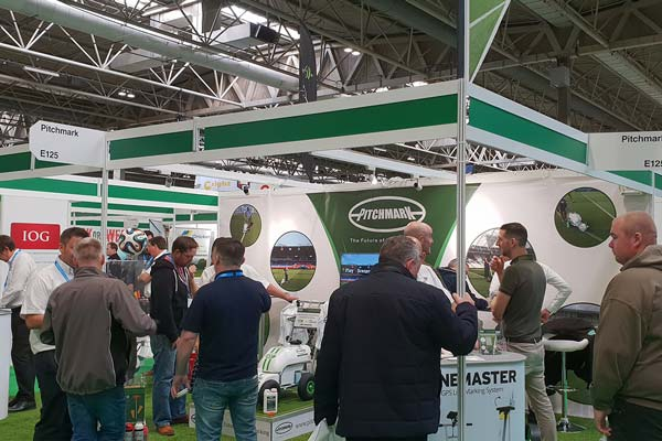 Pitchmark's stand at SALTEX 2018.