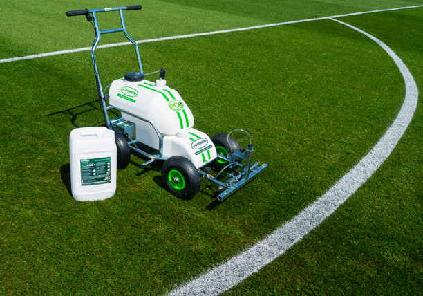 Pitchmark's Eco System - a combination of Eco spray markers and Ecoline+ line marking paint.