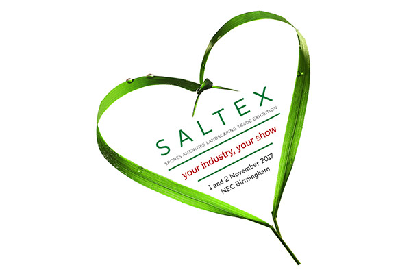 The logo for IOG SALTEX 2017 trade exhbition for the sports turf industry.