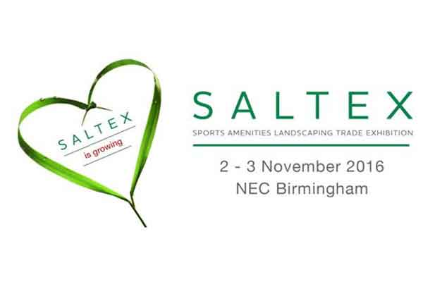 The IOG SALTEX logo along with the date and location of the event.