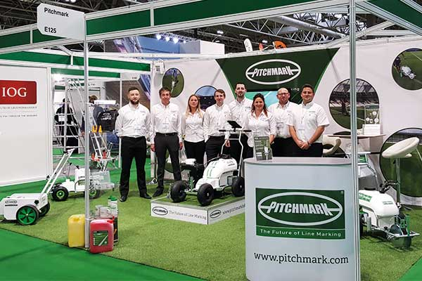 The Pitchmark team on the stand at IoG SALTEX 2017.