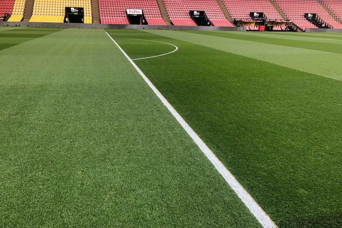 Pitchmark's Ecoline+ paint at Watford FC