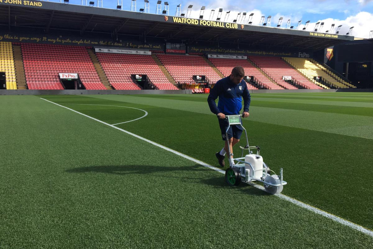 Pitchmark's Hybrid and Ecoline+ paint at Watford FC