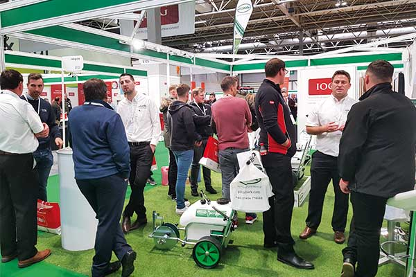 Pitchmark's busy stand at IOG SALTEX 2017.